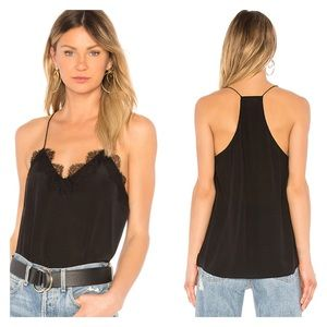 Cami NYC Black The Racer Silk Lace Tank Top